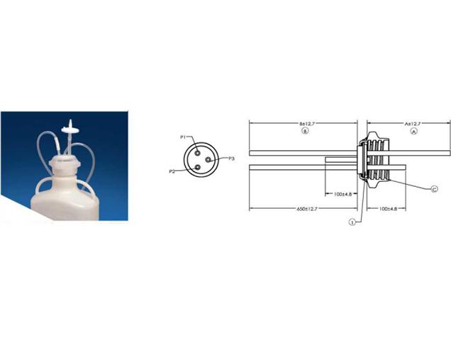 用于carboy容器瓶标准GL80三孔硅胶塞产品